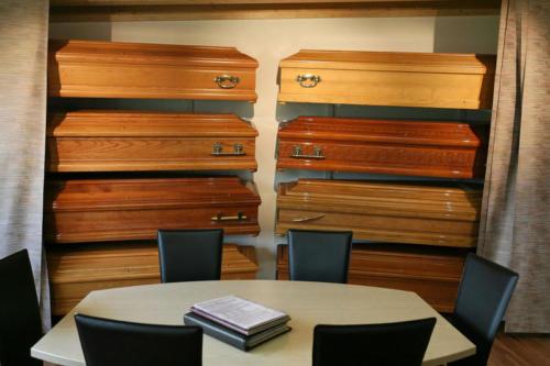 Exposition des cercueils